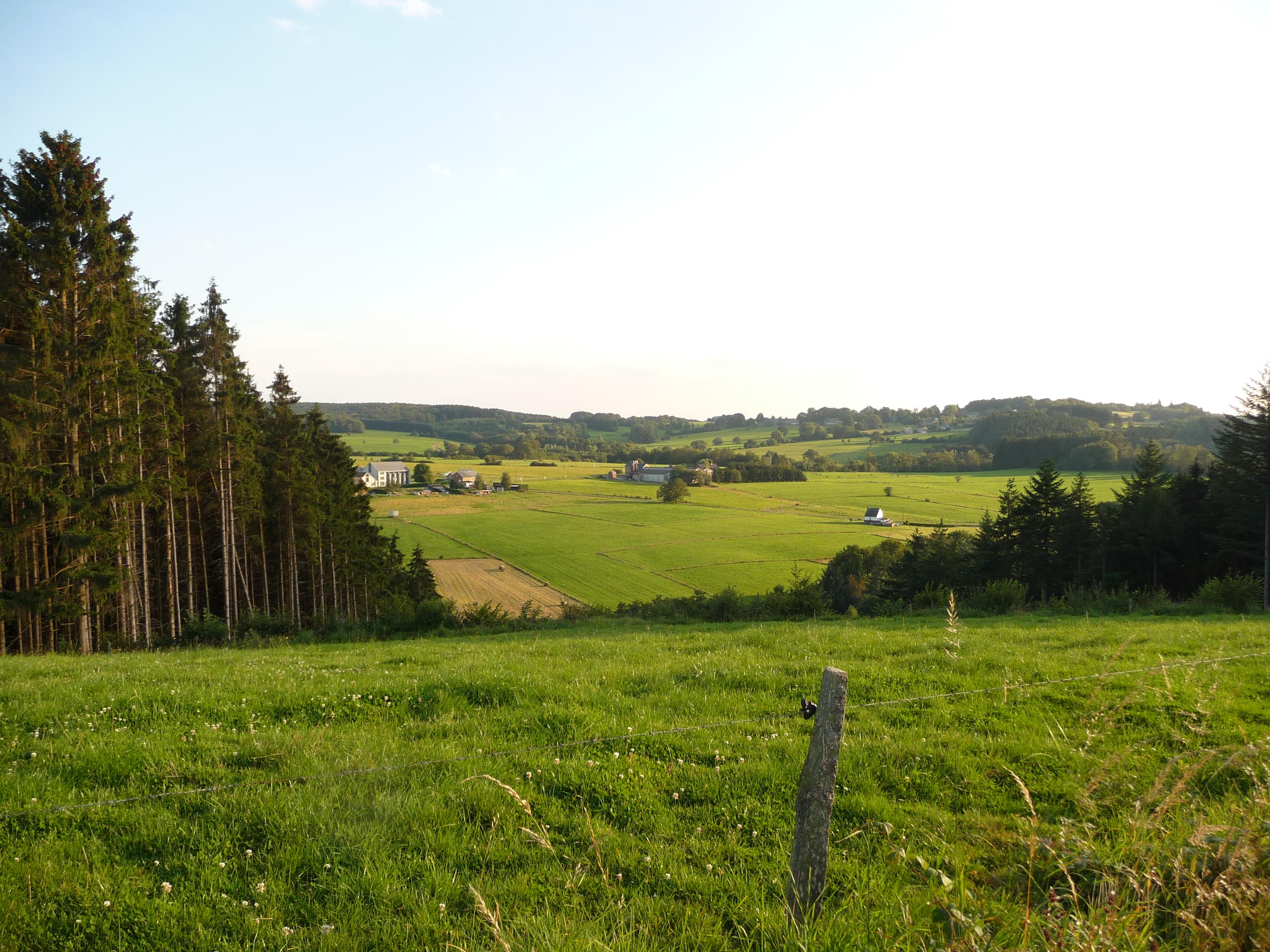 view across the fields around Erezee