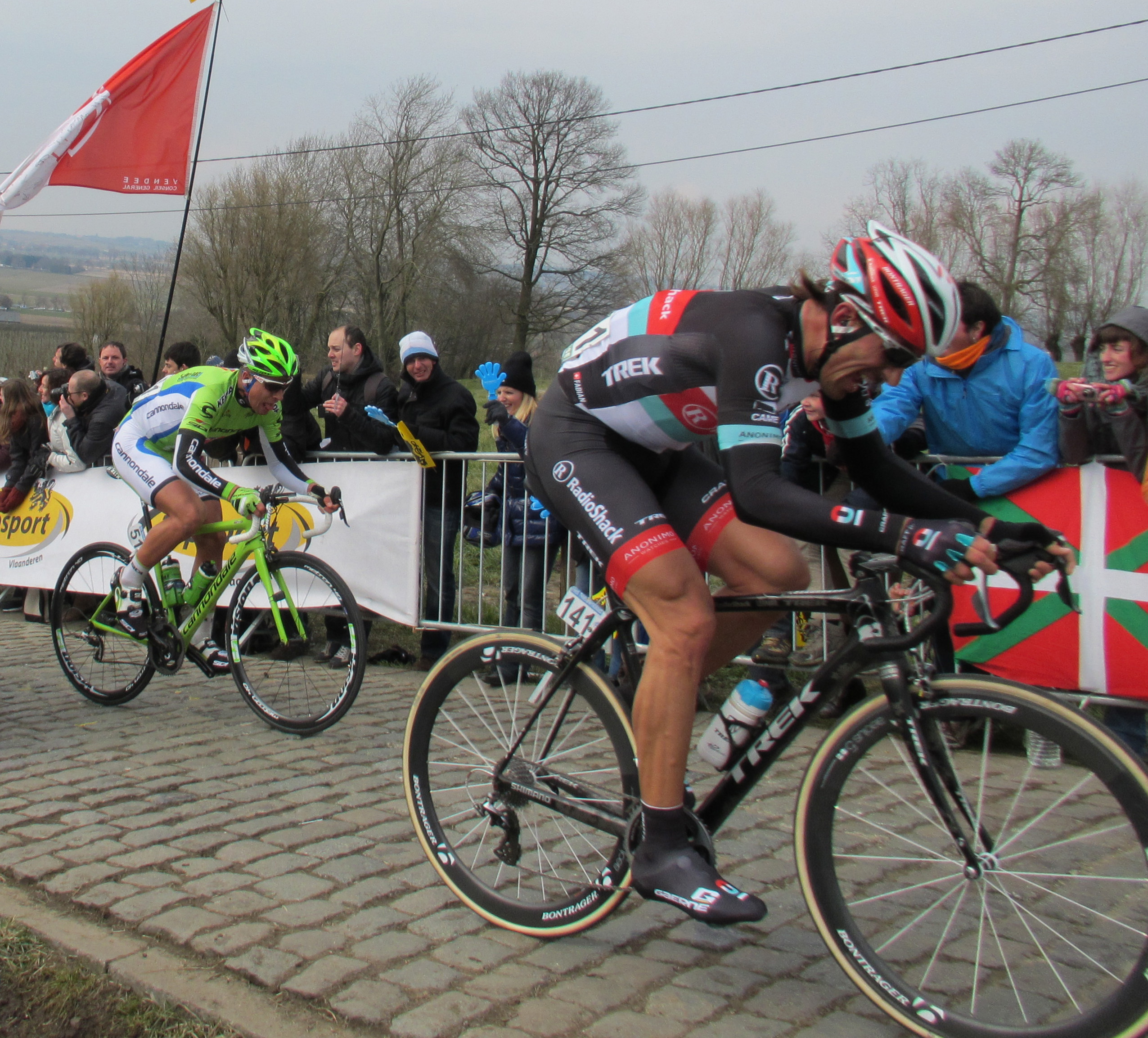 Tour of Flanders on the Paterburg in Kluisbergen
