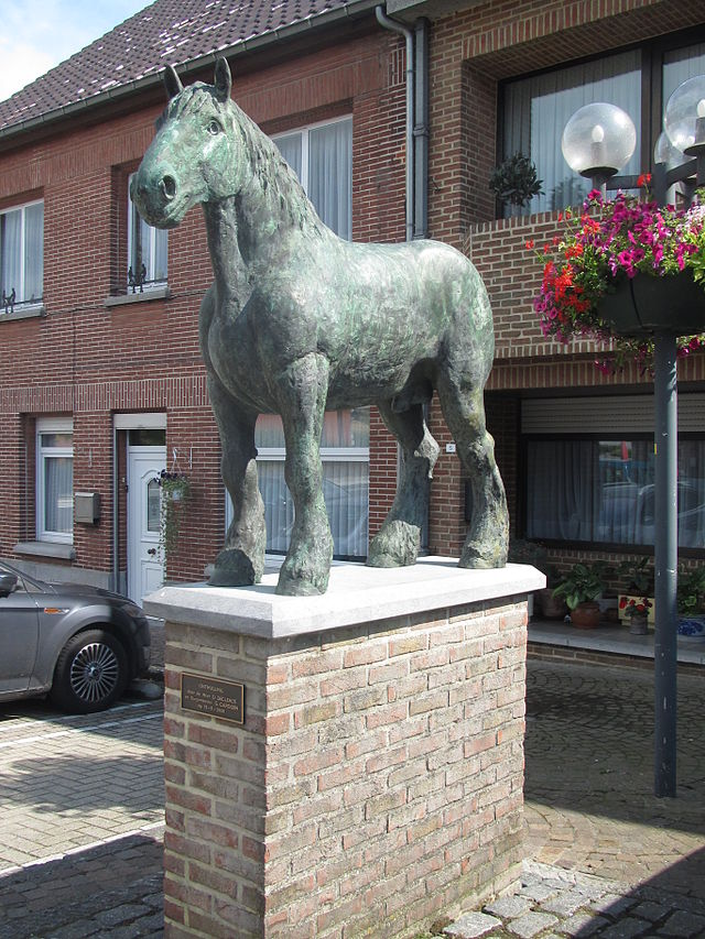 Brillant is one of the most famous Belgian draft horses