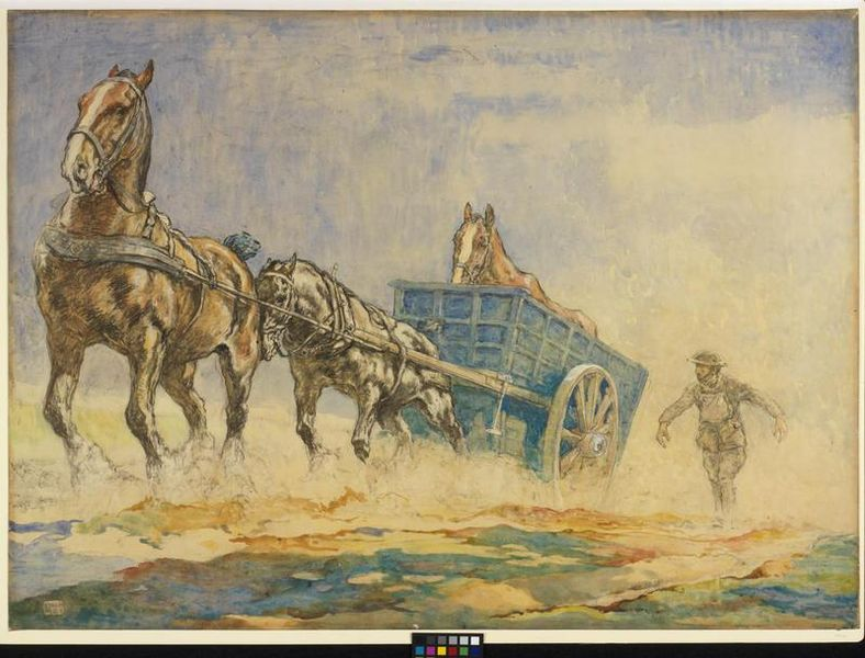 Draft horses were used in their millions in the first world war