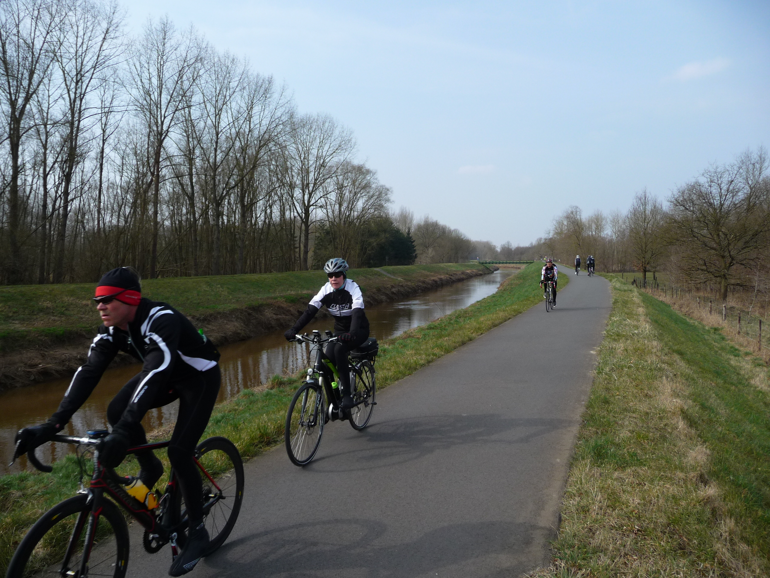 Walking and Cycling along the River Dijle is popular at weekends