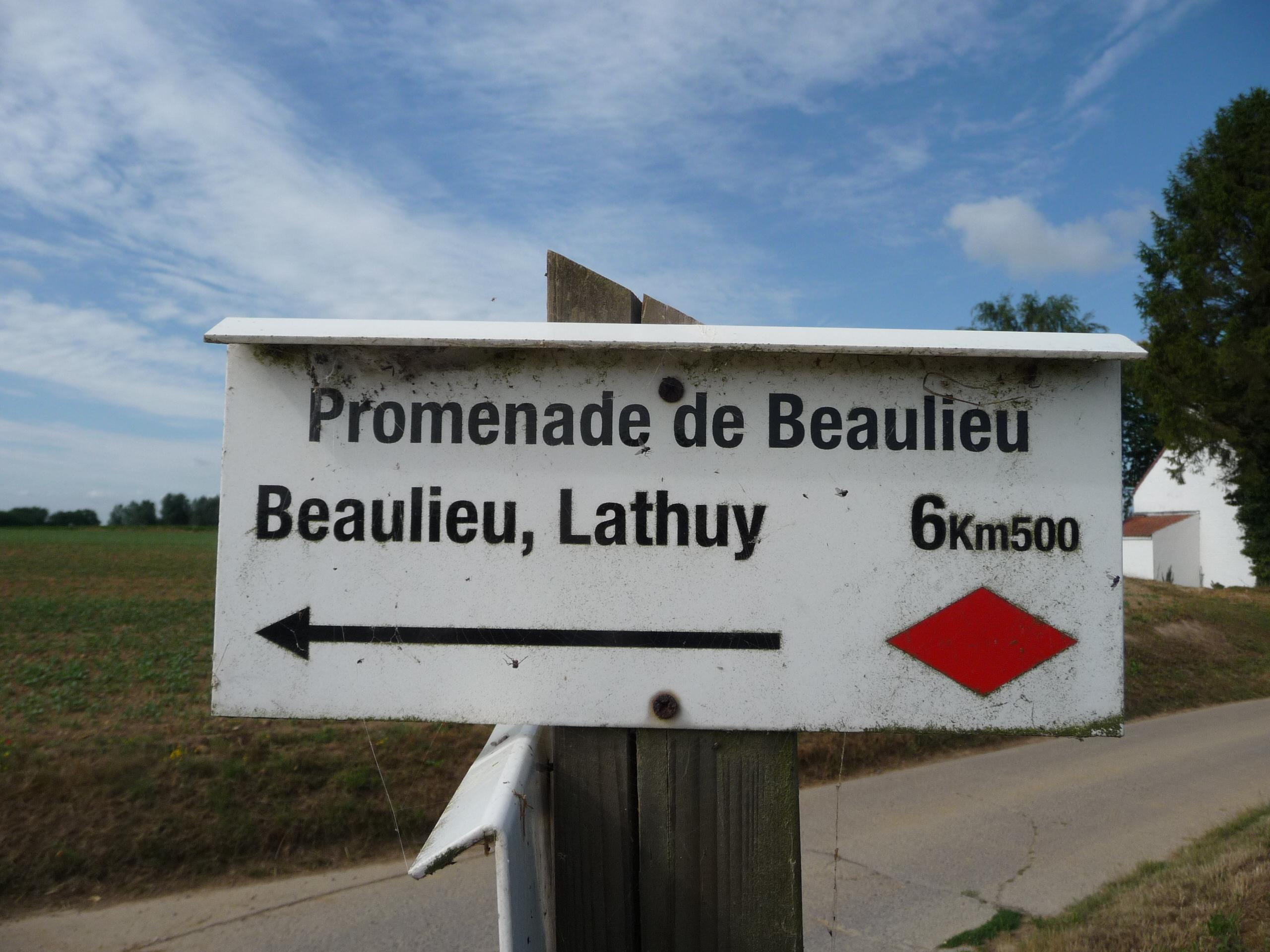 Promenade de Beaulieu signpost
