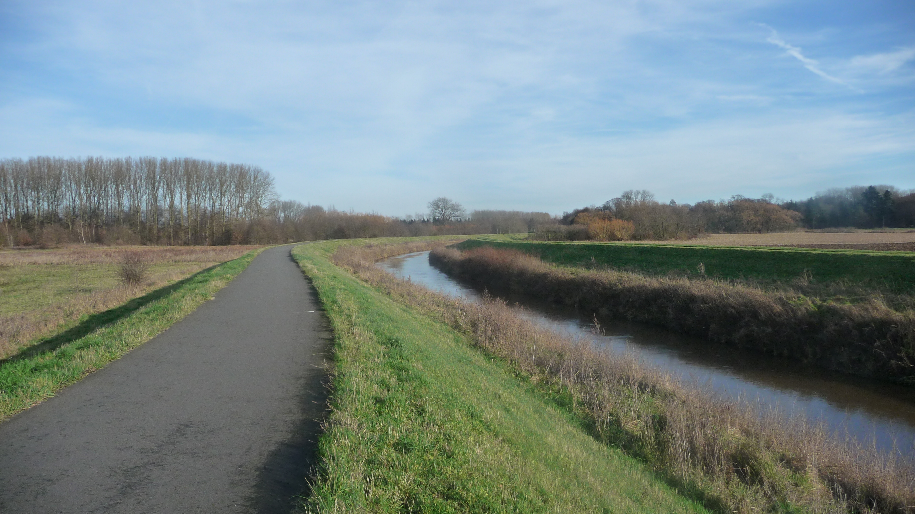 cycle path along the river