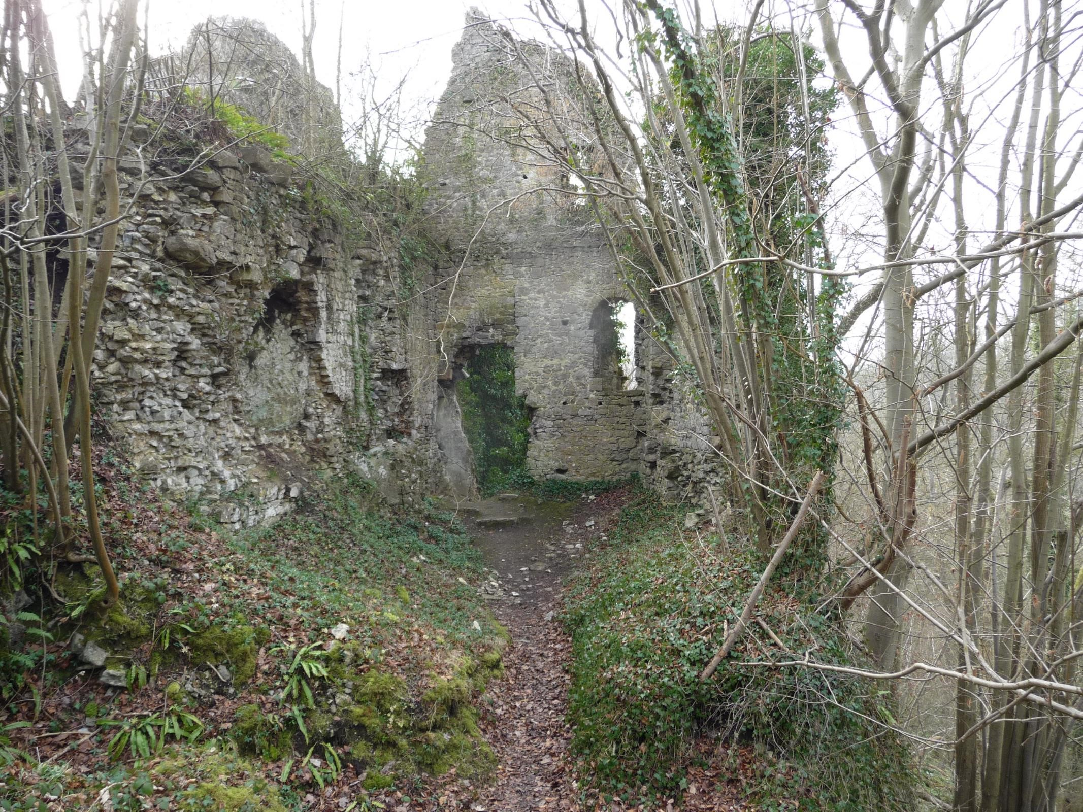 GR571 The Ruins of Chateau Ambleve