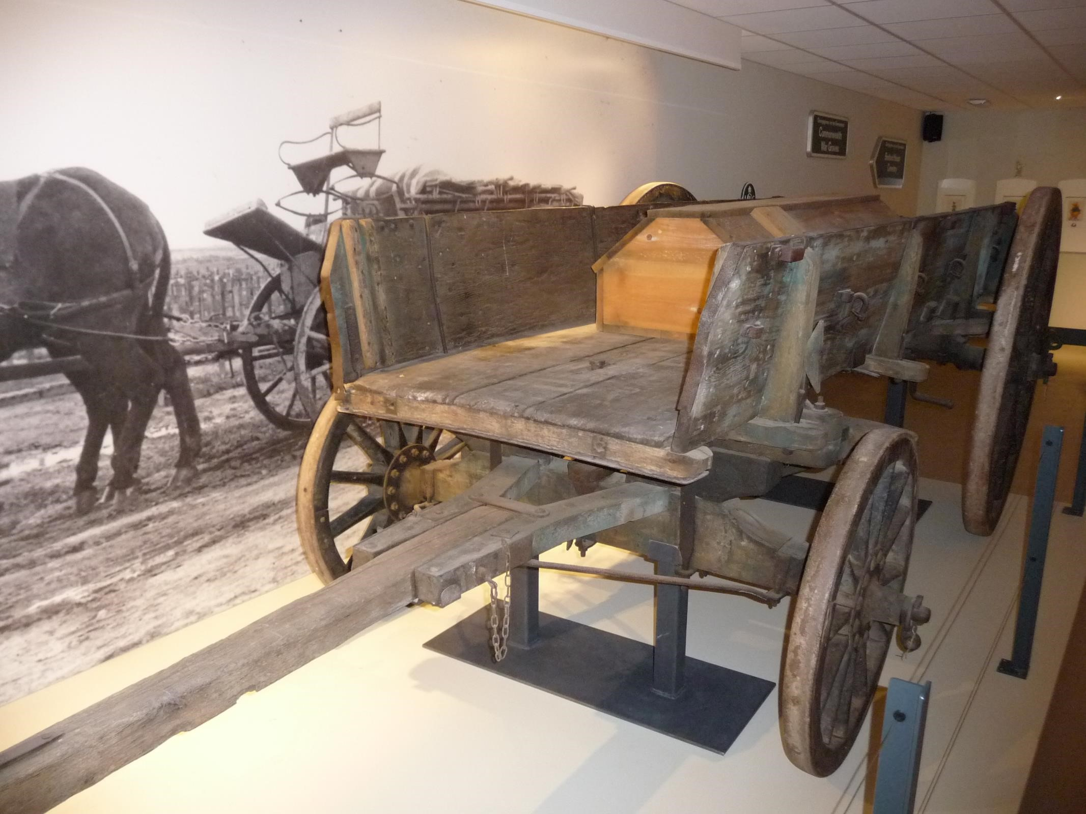 Original coffin transporter from World War One