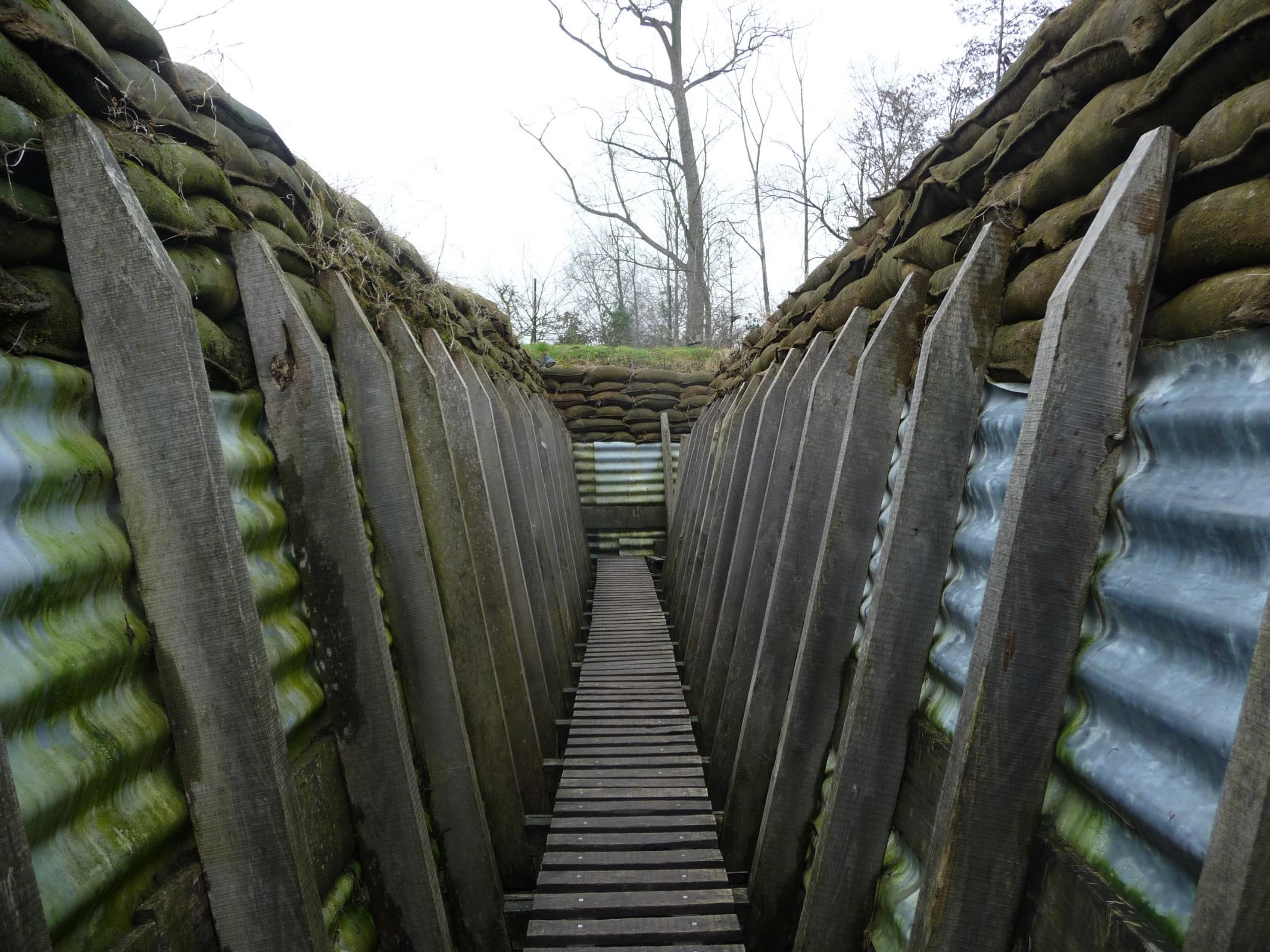Reconstruction of first world war trenches