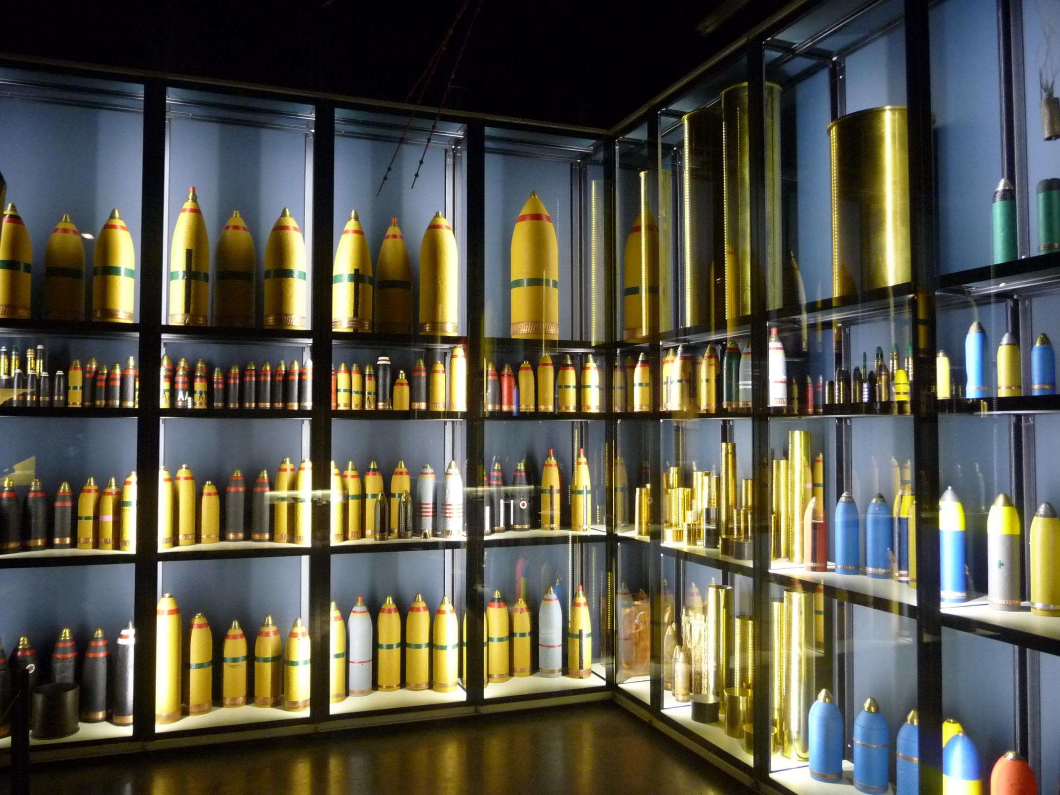 First World War shells on display