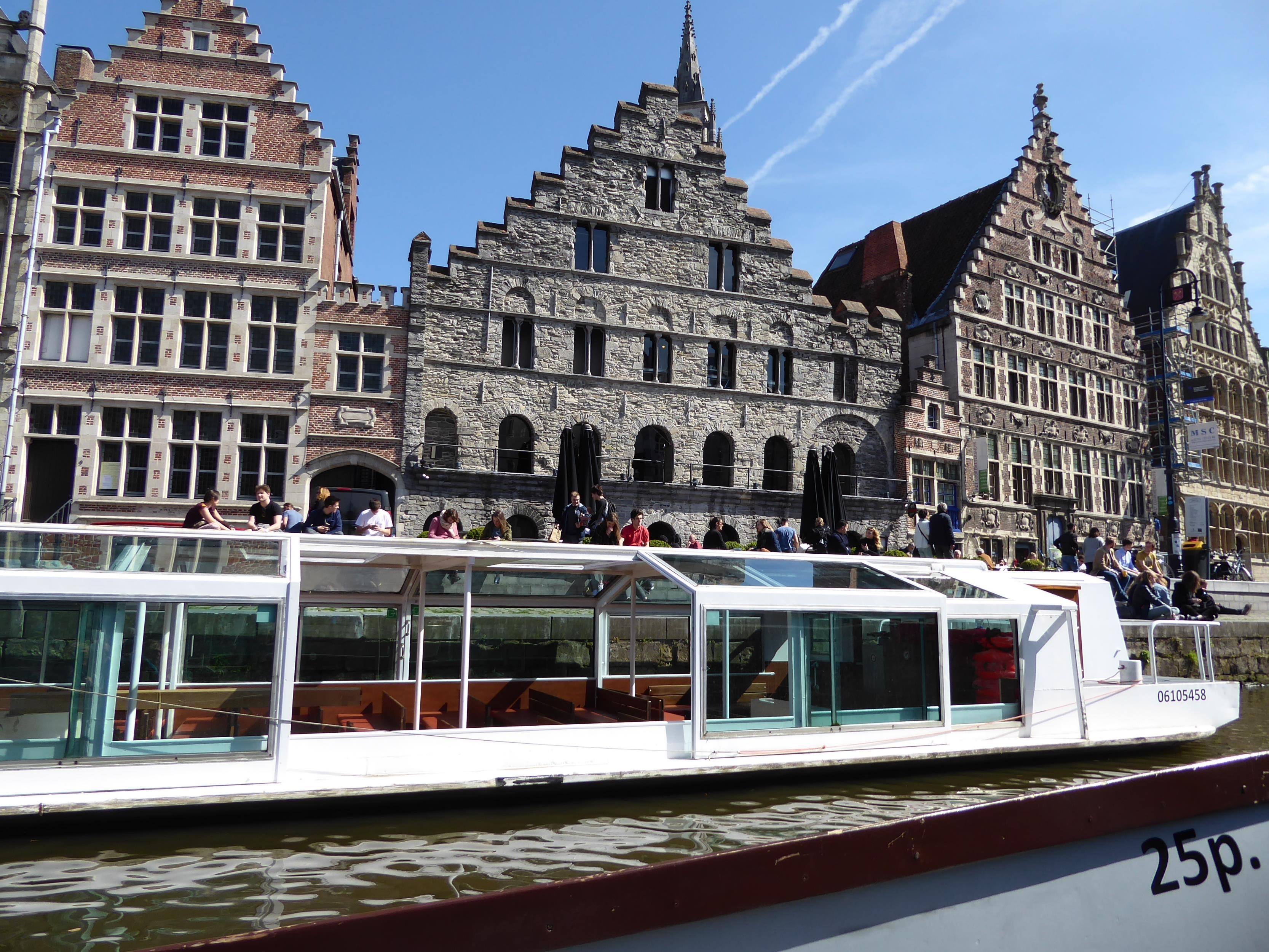 Taking a boat trip in Gent