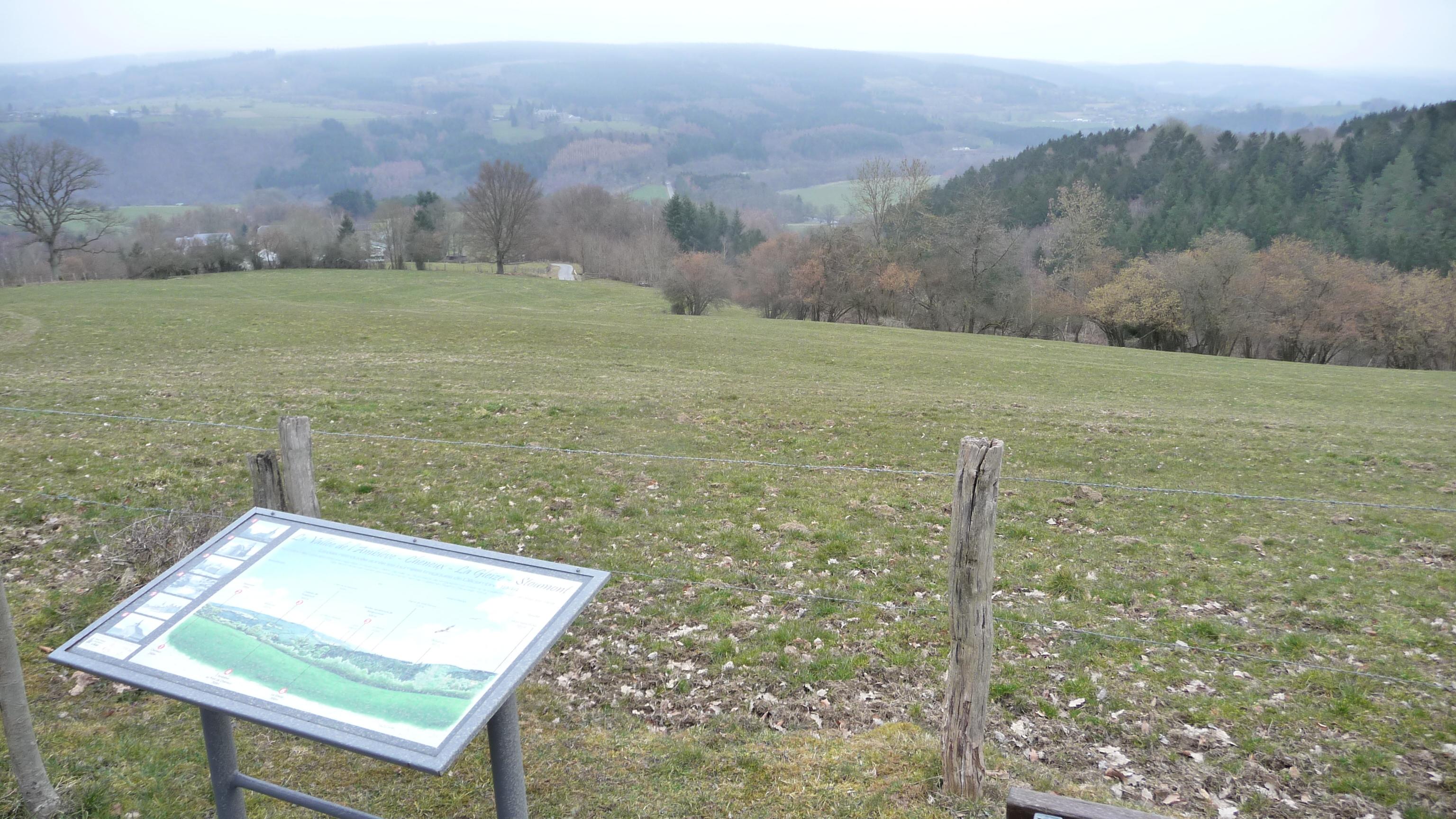 View over La Gleize near Monceau