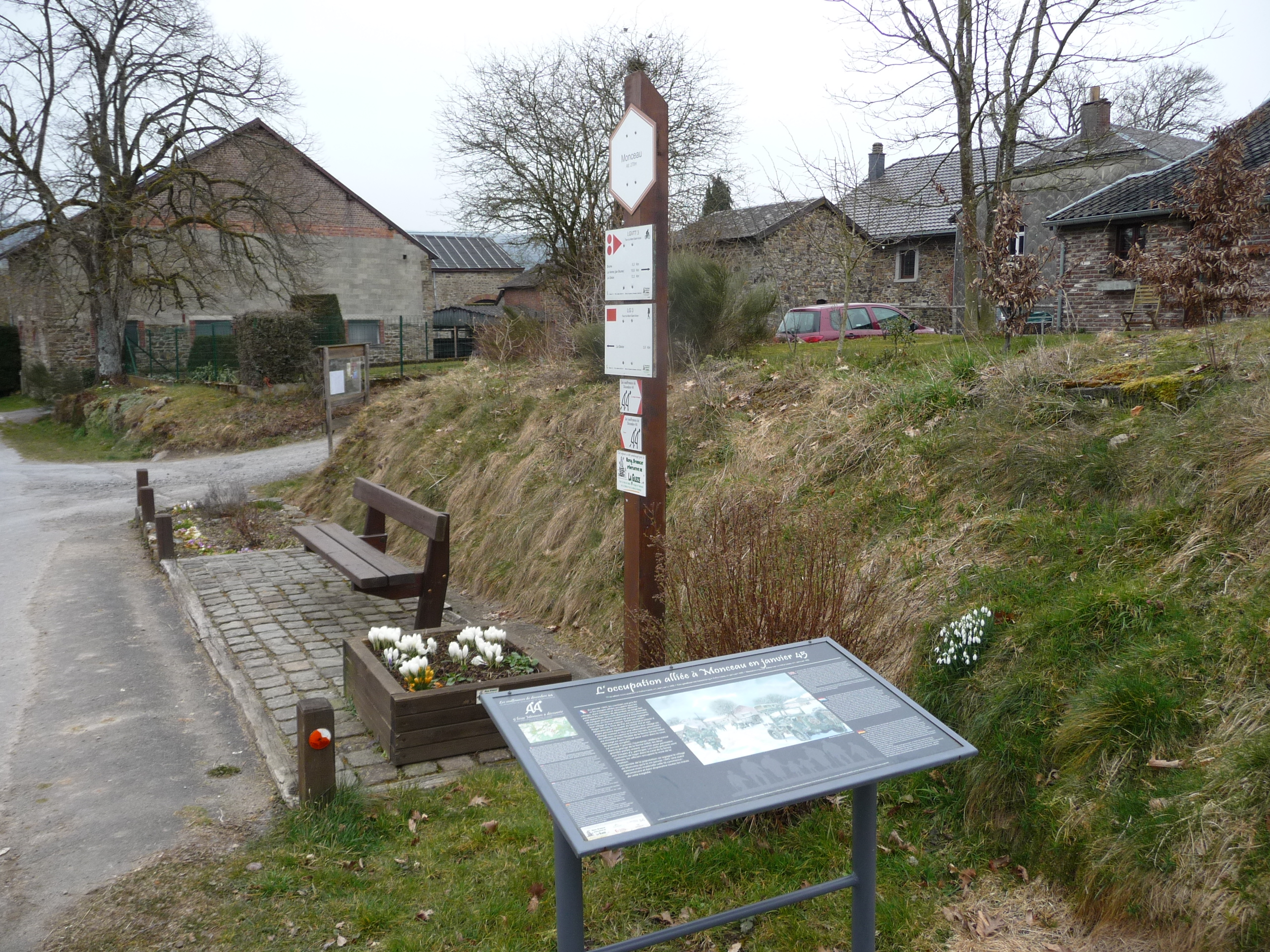 Battle of the Bulge took place in and around Monceau