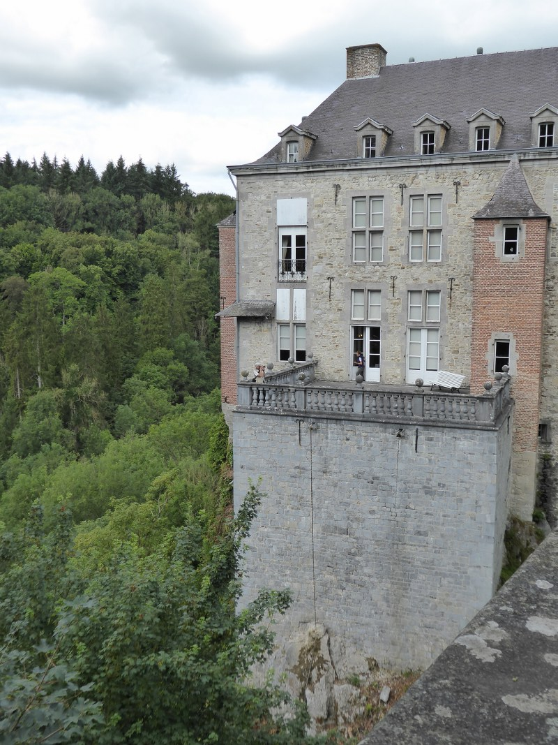 Modave chateau is built on rocks