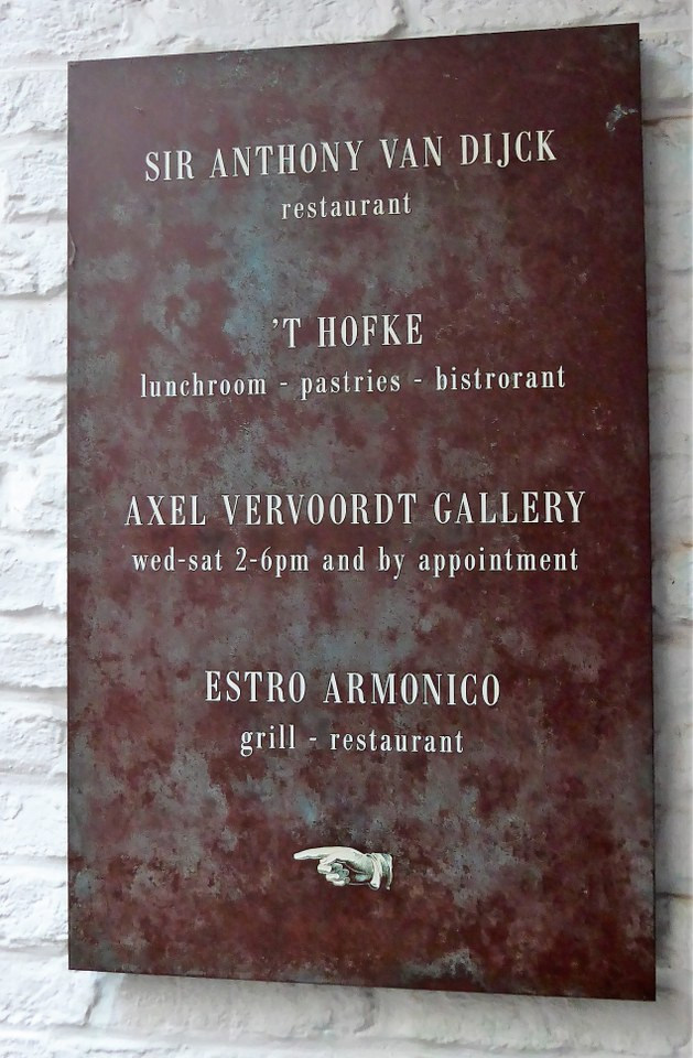 St Anthony van Dijck restaurant Antwerp