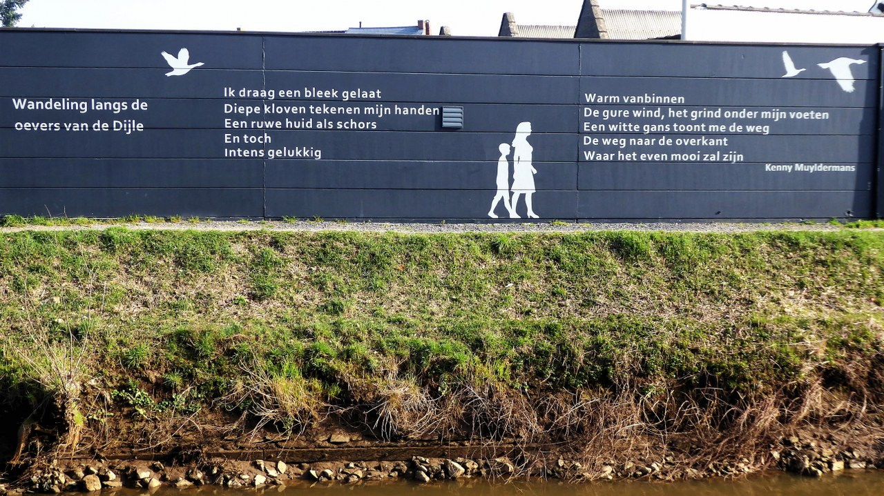 Walking and cycling along the River Dijle