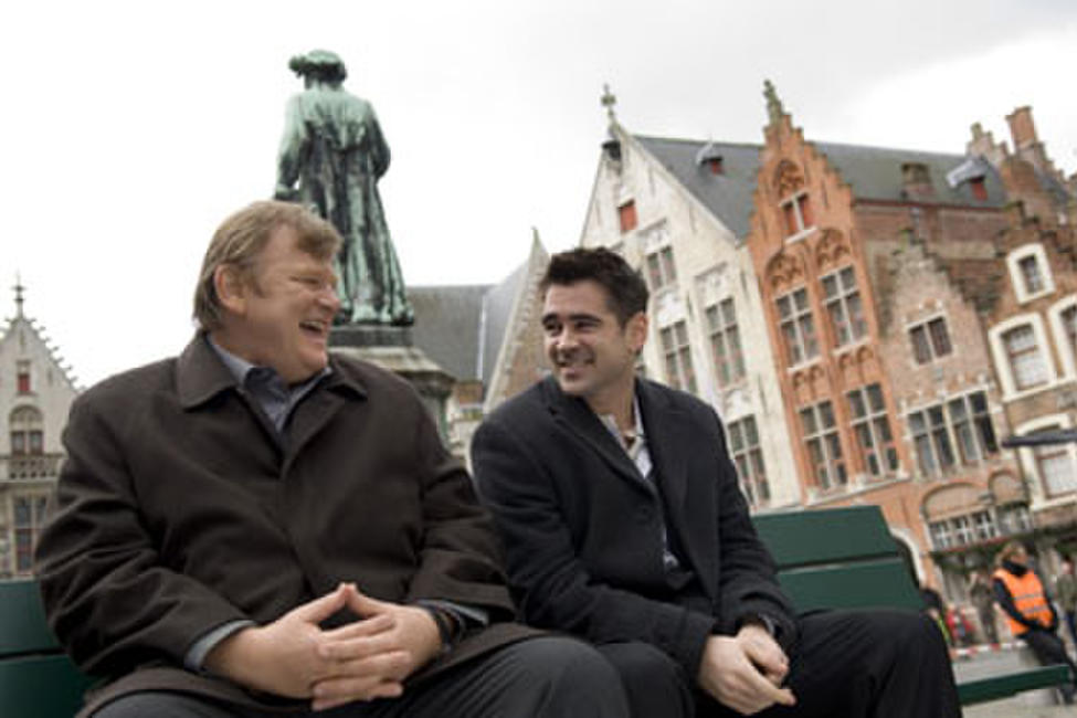 Brendan Gleeson, Colin Farrell and Jan Eyck, spend one day in Bruges