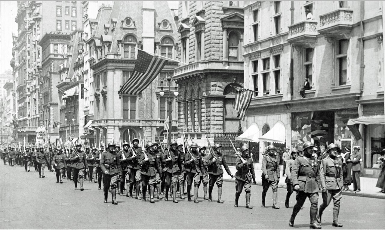 King Albert's Heroes parade on Fifth Avenue  in Manhattan, New York, June 4, 1918