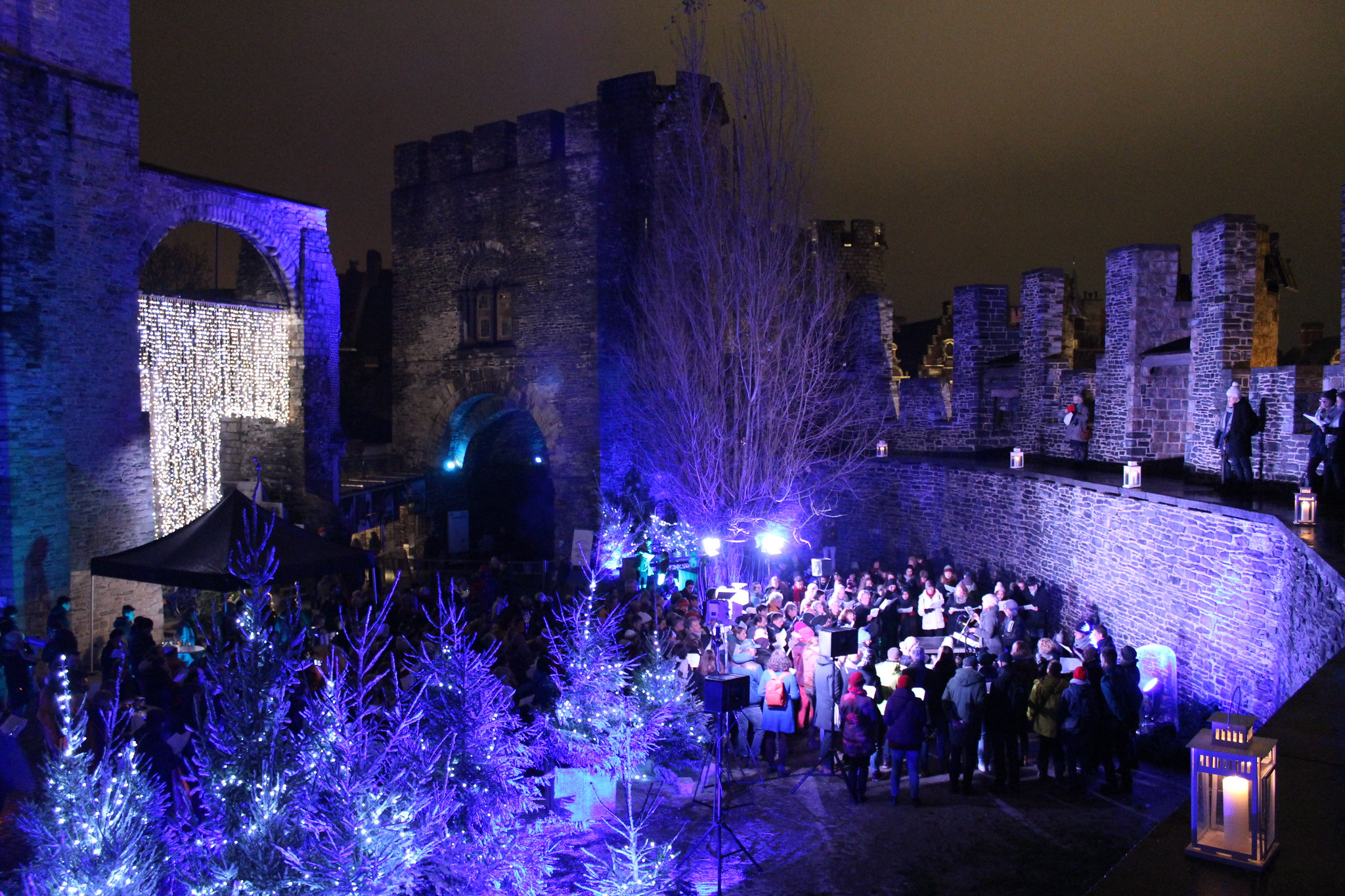 Ghent Winter at Gravensteen Castle
