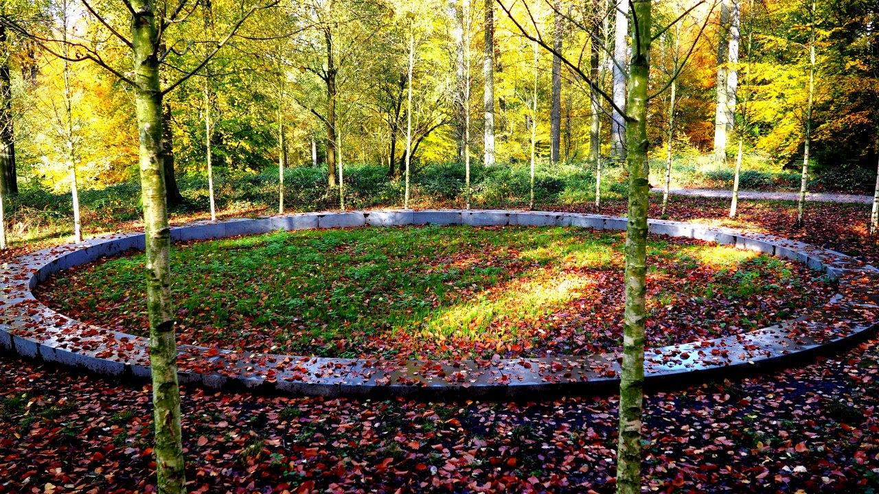 The 2016 Maelbeek attack memorial on the Sonian Forest walk