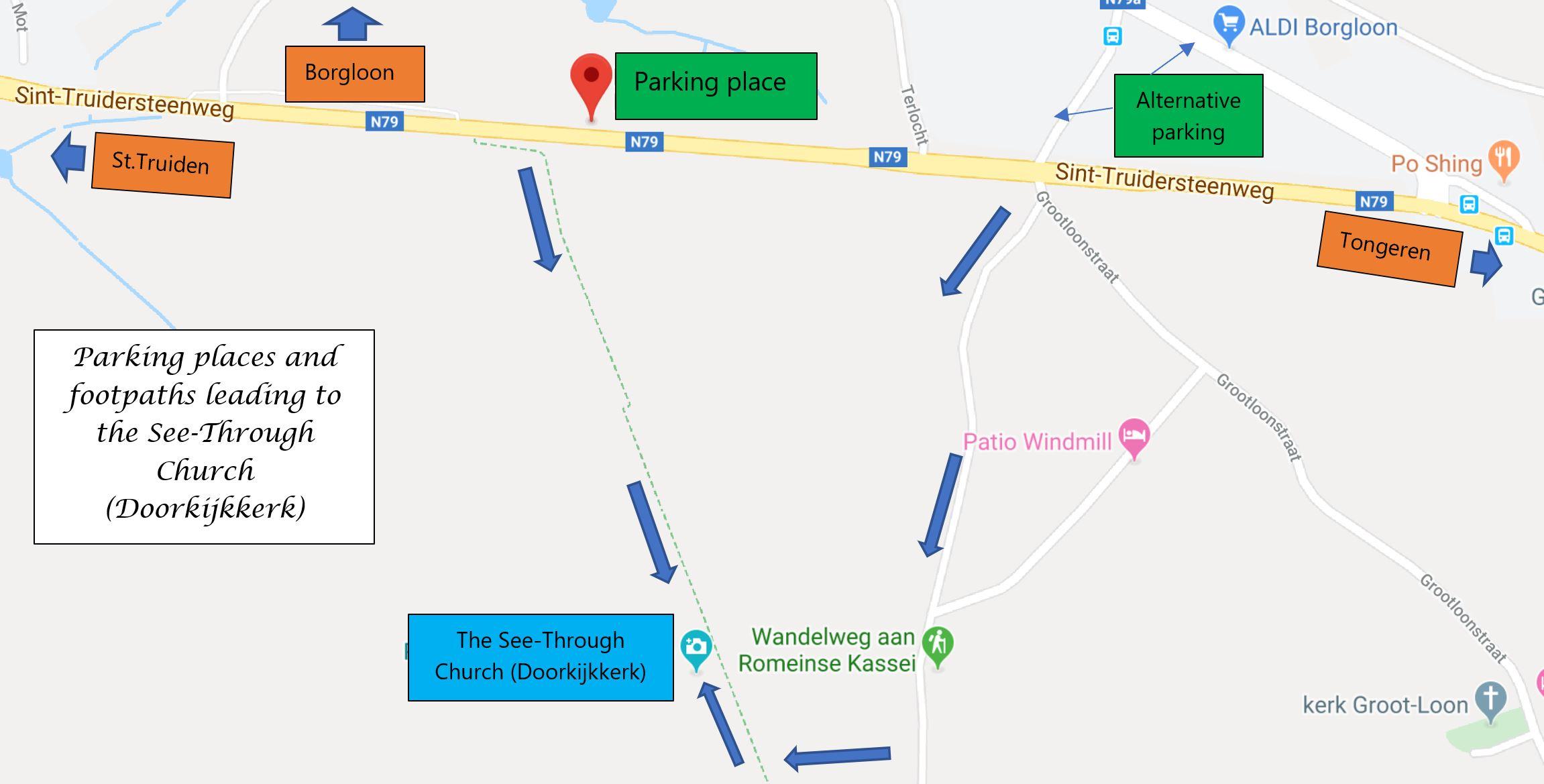 Doorkijkkerk Borgloon map