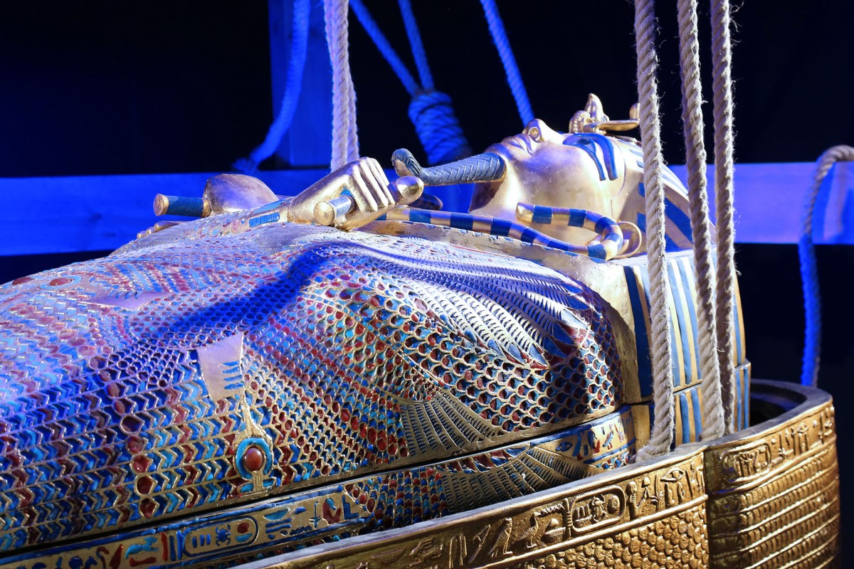 Tutankhamun exhibition in Liege Belgium