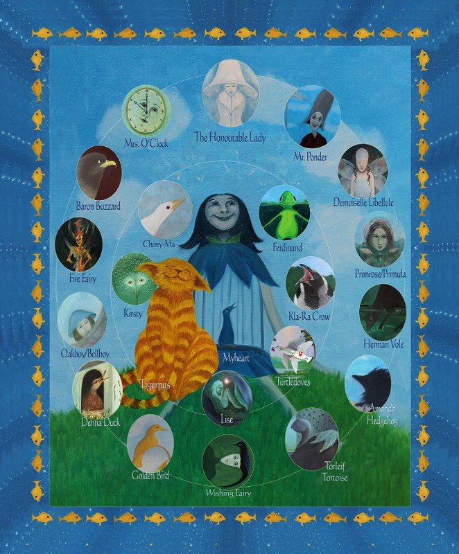 The characters in Plûme in the Enchanted Garden