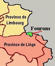 Map of Voeren in Belgium