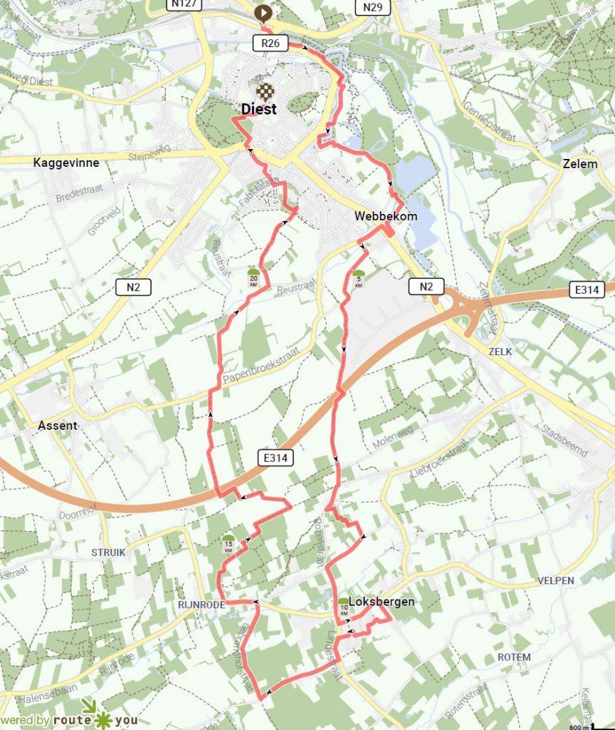 Walk from Diest to Loksbergen