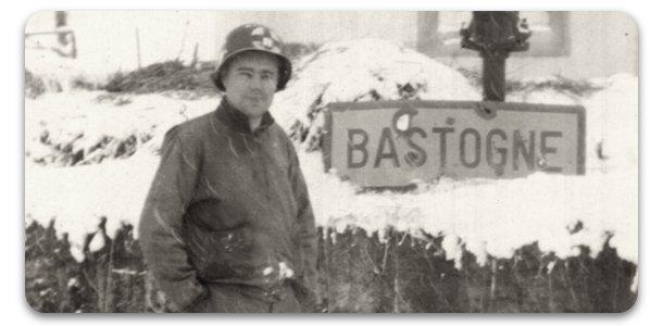 Captain Jack Prior in Bastogne 1944