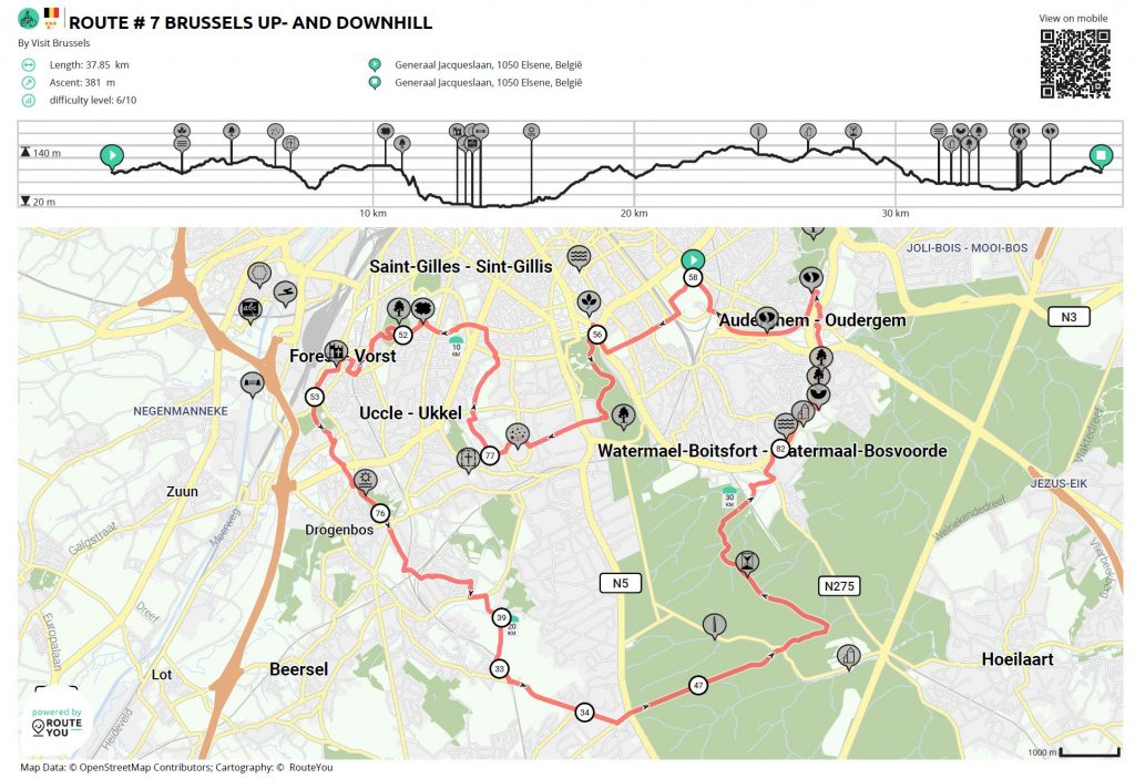 Cycle tour through south Brussels