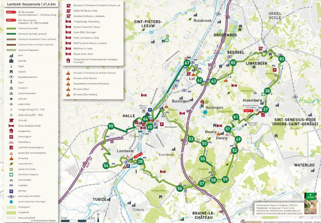 A cycling route to discover Lambic breweries