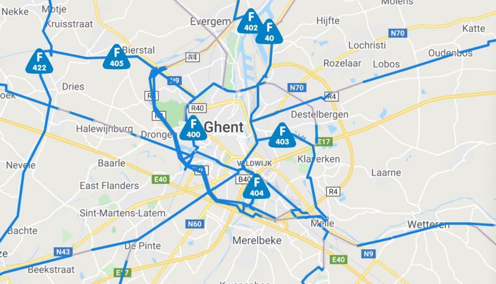 Cycle highways of Flanders