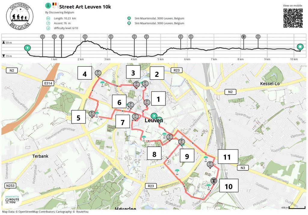 street art Leuven map